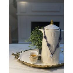 تعليقات خامه تركيه - شاي و قهوه  لون رمادي - الحبتين 10﷼