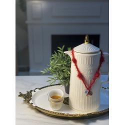 تعليقات خامه تركيه شاي و قهوه  لون احمر- الحبتين 10﷼