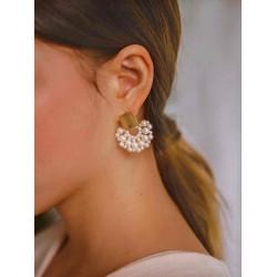 Classic and elegant faux pearl earrings