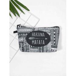 Makeup bag with elegant designs