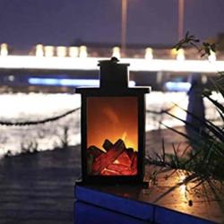 Elegant decorative fireplace - on medium battery - control button