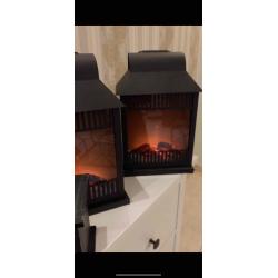 Elegant decorative fireplace - on battery - control button