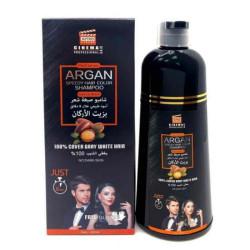 شامبو صبغة شعر سريعه بغطي الشيب بزيت الارجان اسود طبيعي 420مل