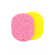 A whole skin sponge (two pieces) that works to clean the bleaching and ... quickly and smoothly
