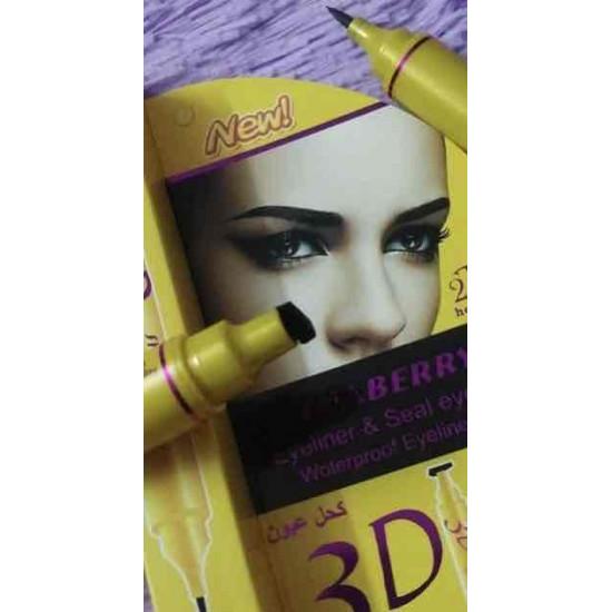 Stamp eyeliner, printed, to facilitate drawing