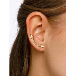 Earring with two ends, elegant and soft, 1 pair